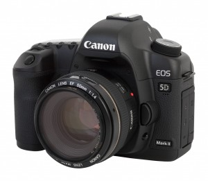 Canon EOS 5D Mark II camera, with Canon EF 50mm f/1.4 USM lens (fitted with a B+W 010 UV-Haze 58mm filter).Photo: Charles Lanteigne